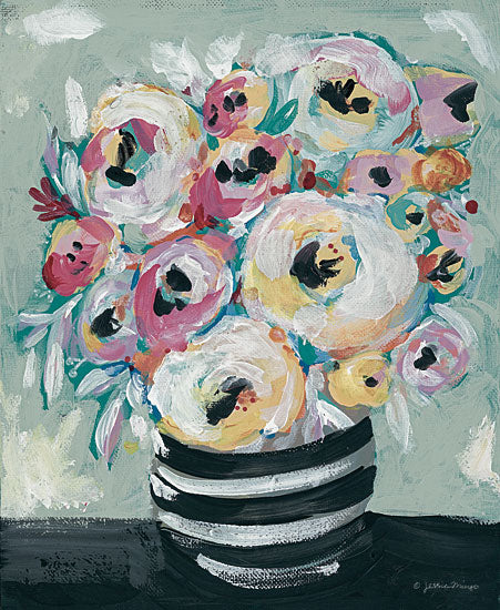 Jessica Mingo JM274 - JM274 - Symphony of Roses - 12x16 Abstract, Roses, Bouquet, Floral, Vase, Contemporary from Penny Lane