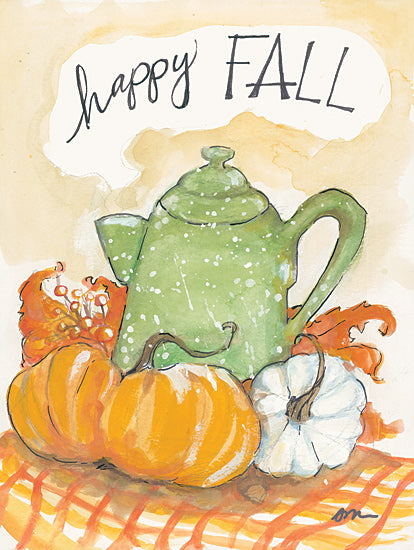 Jessica Mingo JM278 - JM278 - Happy Fall Coffee Pot - 12x16 Fall, Coffee Pot, Pumpkins, Signs, Typography from Penny Lane