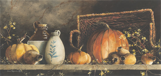 John Rossini JR208 - Pumpkin and Pods - Pumpkins, Gourds, Crocks, Antiques, Still Life, Autumn from Penny Lane Publishing