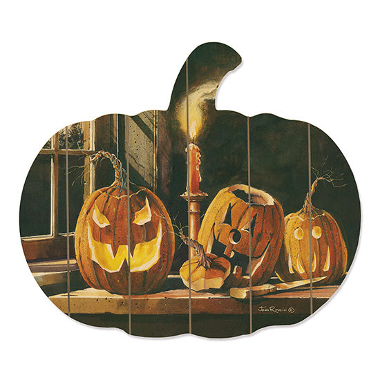 John Rossini JR307PUMP - The Carving Table Pumpkins, Jack O'lantern, Halloween, Candle, Spooky, Haunted from Penny Lane