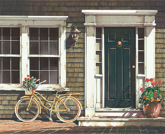 John Rossini JR349 - Parked Out Front Bike, Bicycle, Flowers, Front Porch from Penny Lane