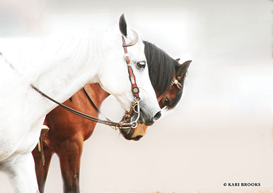 Kari Brooks KARI107 - Ying & Yang - 18x12 Photography, Horses, White and Brown Horses, Portrait from Penny Lane
