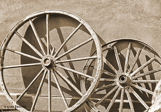 Kari Brooks KARI123 - KARI123 - Like a Wagon Wheel - 18x12 Wagon Wheel, Photography, Western from Penny Lane