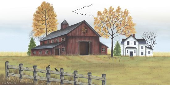 Lisa Kennedy KEN1001 - Autumn Farmstead    Farm, Barn, House, Birds, Autumn, Harvest, Field from Penny Lane