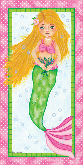 Lisa Kennedy KEN1003 - Mermaid Mermaid, Babies, Kid's Art,  Ocean, Triptych from Penny Lane