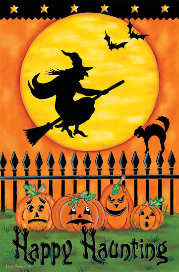 Lisa Kennedy KEN1023 - Witch Silhouette - 12x18 Halloween, Witches, Haunted, Pumpkins, Jack O'lantern, Moon from Penny Lane