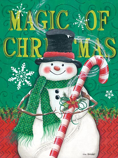 Lisa Kennedy KEN945 - Magic of Christmas - Snowman, Candy Cane, Snowflakes, Holiday from Penny Lane Publishing