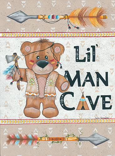 Lisa Kennedy KEN963 - Lil Man Cave - Man Cave, Arrow, Bear, Indians, Baby, Teddy Bear from Penny Lane Publishing