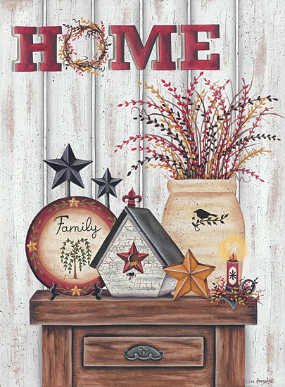 Lisa Kennedy KEN972 - Home & Family Home, Birdhouse, Crock, Barn Stars, Berry Wreath from Penny Lane