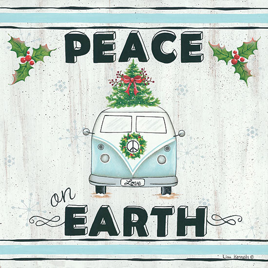 Lisa Kennedy KEN982 - Peace on Earth VW Van, Volkswagen, Peace on Earth, Van, Holiday from Penny Lane