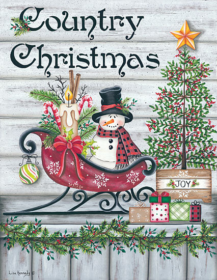 Lisa Kennedy KEN984 - Country Christmas Country Christmas, Snowman, Sled, Signs from Penny Lane