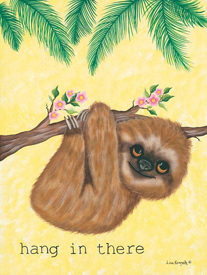 Lisa Kennedy KEN998 - Hang in There Sloth, Tropical, Flowers, Babies, Kids, Hang in There from Penny Lane