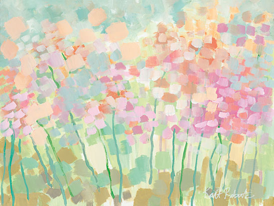 Kait Roberts KR111 - Growing Things II - Wildflowers, Pastel Colors, Field, Abstract, Modern from Penny Lane Publishing