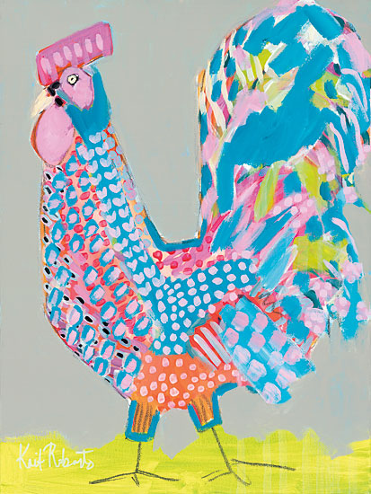 Kait Roberts KR129 - Ralph the Rooster - Rooster, Patchwork, Modern, Colorful, Abstract from Penny Lane Publishing