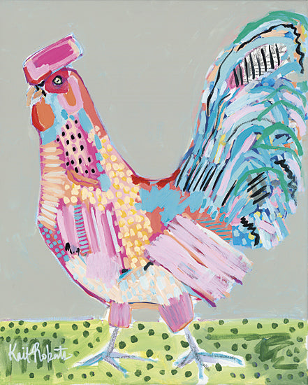 Kait Roberts KR130 - Cluck Norris - Rooster, Patchwork, Modern, Colorful, Abstract from Penny Lane Publishing