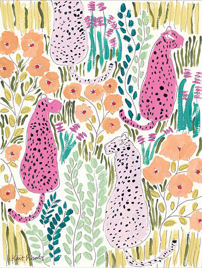 Kait Roberts KR139 - Hello Cheetah - Pink Tiger, Greenery, Tropical, Pink, Fuchsia, Abstract from Penny Lane