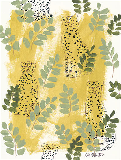 Kait Roberts KR141 - Hello Cheetah - Green Cheetah, Green, Greenery, Abstract from Penny Lane