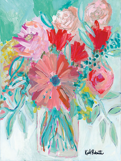 Kait Roberts KR145 - Farmer's Market Bouquet Flowers, Abstract, Vase, Blooms from Penny Lane
