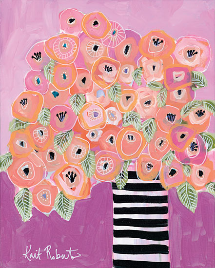 Kait Roberts KR149 - Already Famous Abstract, Vase, Flowers, Pink, Purple from Penny Lane