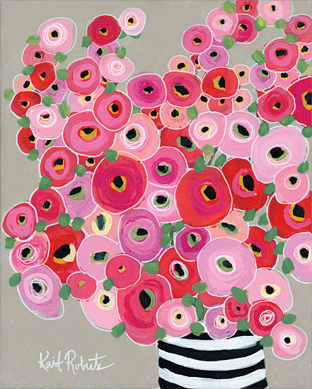 Kait Roberts KR150 - Born to Stand Out Flowers, Abstract, Vase, Red, Pink from Penny Lane