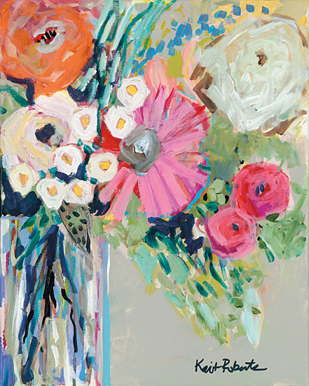 Kait Roberts KR154 - From Mrs. Hazel's Garden Abstract, Vase, Flowers from Penny Lane