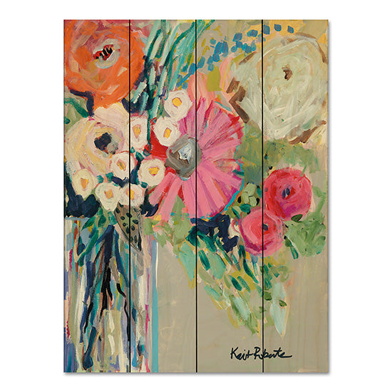Kait Roberts KR154PAL - From Mrs. Hazel's Garden Abstract, Vase, Flowers from Penny Lane