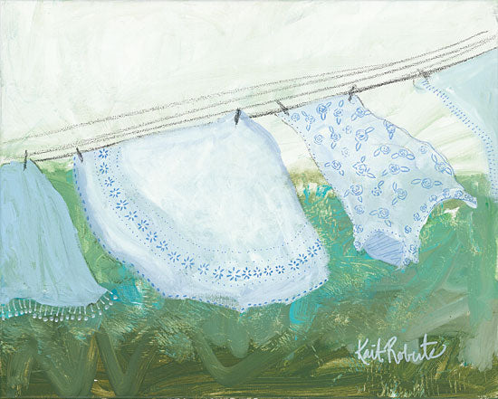 Kait Roberts KR157 - Sun-Bleached Linens Linens, Clothesline, Laundry, Whites from Penny Lane