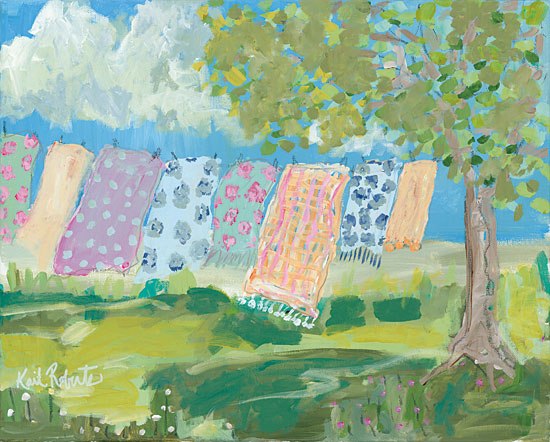 Kait Roberts KR158 - Laundry Day Abstract, Laundry, Blankets, Tree from Penny Lane