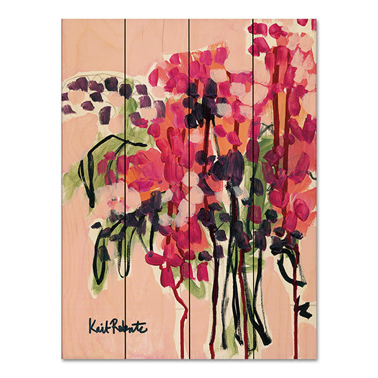 Kait Roberts KR159PAL - Picked in a Field in Maine Abstract, Vase, Flowers, Red, Black from Penny Lane