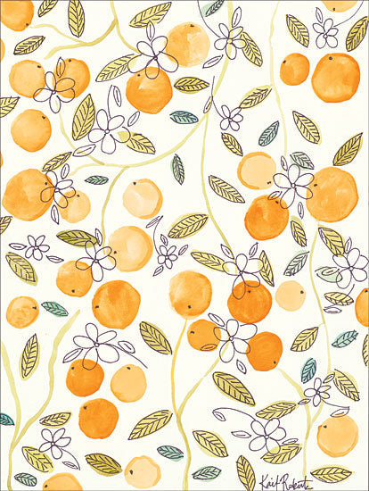 Kait Roberts KR165 - Clementine Abstract, Oranges, Clementine from Penny Lane