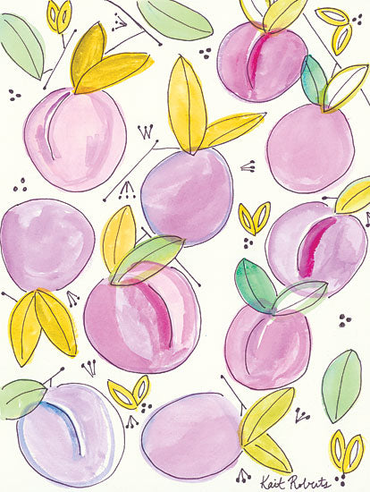 Kait Roberts KR166 - Plum Crazy Abstract, Plums from Penny Lane