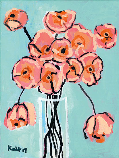 Kait Roberts KR182 - Eye Candy Flowers, Abstract, Vase, Pink from Penny Lane