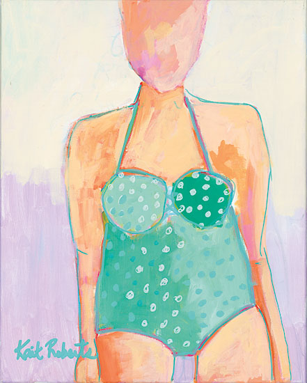 Kait Roberts KR193 - Sunbather Series:  Summer Lovin' Abstract, Sunbather, Woman, Swimming from Penny Lane