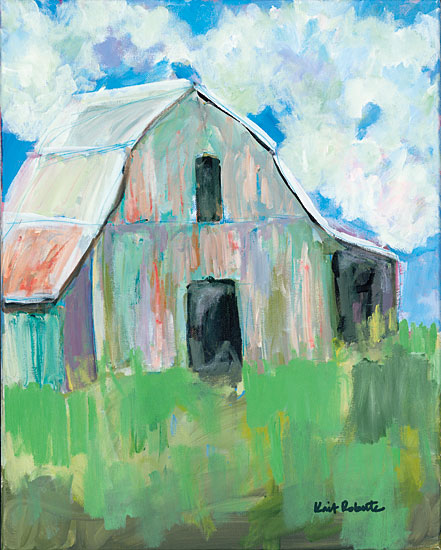 Kait Roberts KR196 - Old But Not Giving In Barn, Farm, Abstract, Field from Penny Lane