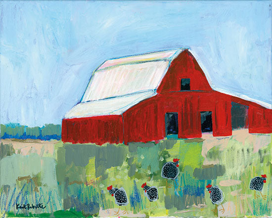 Kait Roberts KR198 - Winona and the Brood Barn, Farm, Abstract, Chickens from Penny Lane