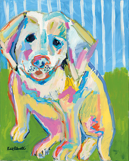 Kait Roberts KR199 - A Labrador Puppy Smile Abstract, Dog, Puppy, Labrador, Portrait from Penny Lane