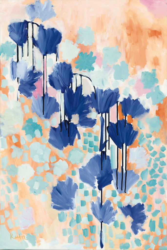 Kait Roberts KR202 - KR202 - Cantaloupe - 12x18 Abstract, Flowers, Modern from Penny Lane