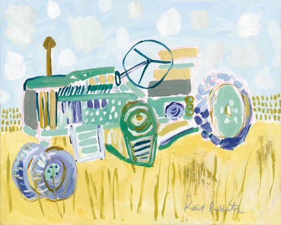 Kait Roberts KR232 - I'd Rather Be Stuck in the Mud Than Traffic Abstract, Tractor, Farm, Field, Harvest from Penny Lane