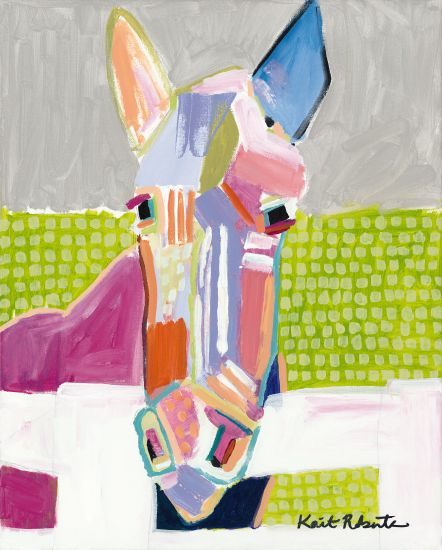 Kait Roberts KR234 - Darlin Abstract, Horse, Multi-Colored, Farm from Penny Lane