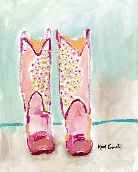 Kait Roberts KR239 - Mud and Mascara Cowboy Boots, Girl, Pink, Abstract from Penny Lane