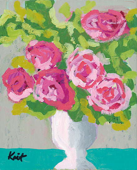 Kait Roberts KR243 - XOXO Flowers, Pink, Vase, Bouquet, Blooms from Penny Lane