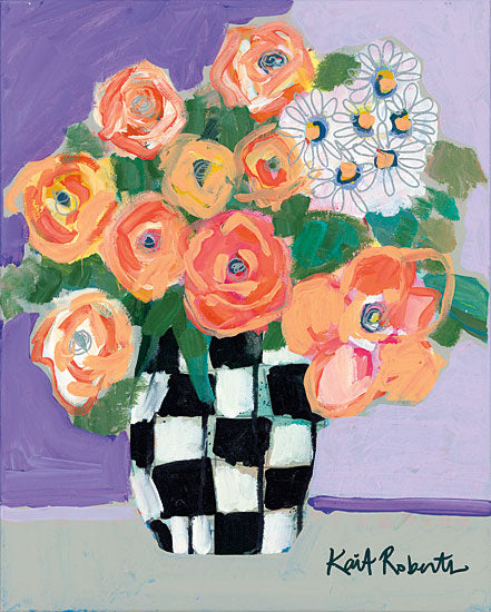 Kait Roberts KR244 - Once Upon a Dream Abstract, Flowers, Blooms, Bouquet, Vase, Botanical from Penny Lane