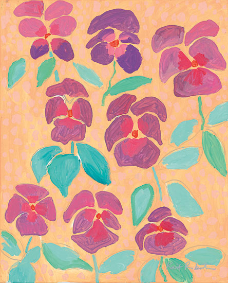 Kait Roberts KR246 - Ya Pansy Pansy, Flowers, Blooms, Abstract from Penny Lane