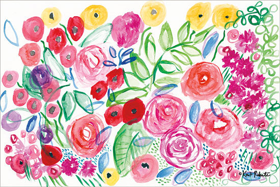 Kait Roberts KR247 - Garden View Wildflowers, Flowers, Abstract from Penny Lane