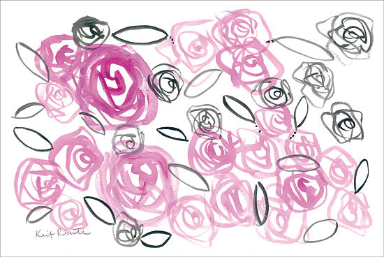 Kait Roberts KR257 - Reflections in Roses Flowers, Roses, Abstract, Pink and Black from Penny Lane