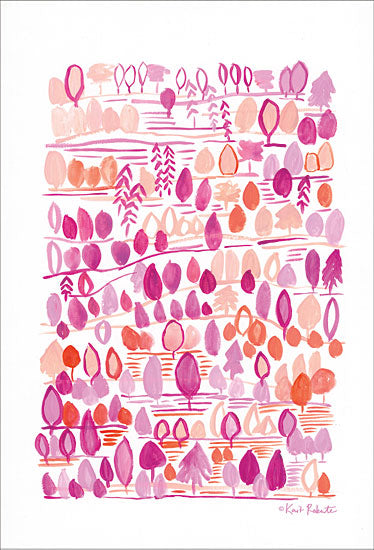 Kait Roberts KR258 - Dreaming of the Forest in the Morning Abstract, Pink and Orange from Penny Lane