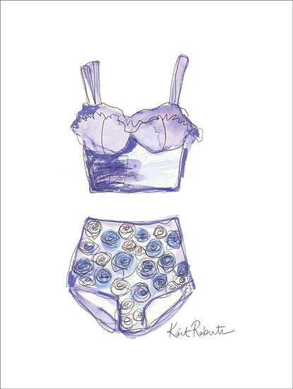 Kait Roberts KR277 - Sunday Blues - 12x16 Bathing Suit, Swimming, Fashion from Penny Lane