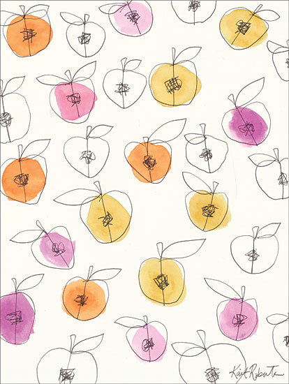 Kait Roberts KR291 - Peach Pits - 12x16 Peach, Peach Pits, Fruit from Penny Lane