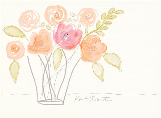Kait Roberts KR295 - Sweet Summer - 16x12 Abstract, Flowers, Vase, Contemporary from Penny Lane