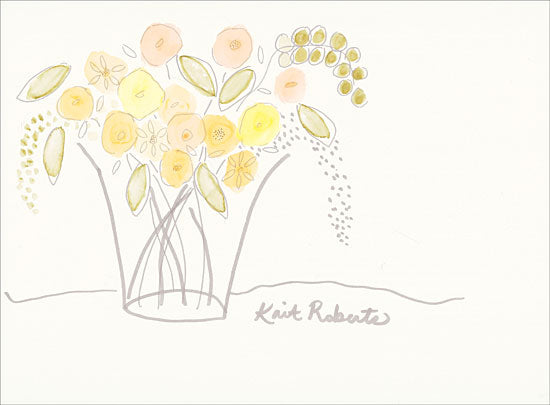 Kait Roberts KR298 - Miniature Blooms - 16x12 Abstract, Flowers, Vase, Contemporary from Penny Lane